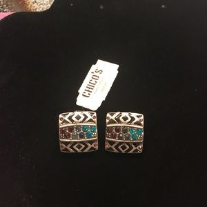 Chico's Clip on Earrings NWT